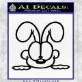 Odie Peeking Decal Sticker Garfield Black Logo Emblem 120x120