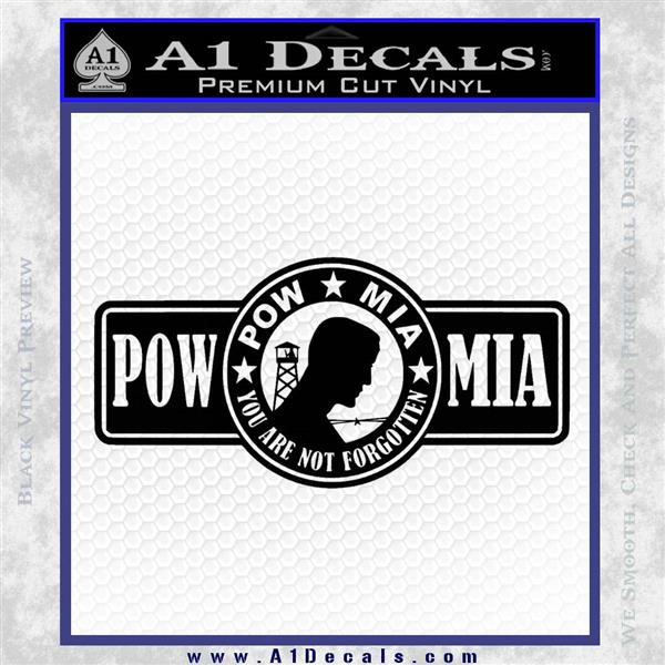POW MIA DB Decal Sticker Black Logo Emblem