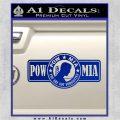 POW MIA DB Decal Sticker Blue Vinyl 120x120