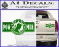 POW MIA DB Decal Sticker Green Vinyl 120x97
