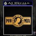 POW MIA DB Decal Sticker Metallic Gold Vinyl 120x120