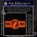 POW MIA DB Decal Sticker Orange Vinyl Emblem 120x120