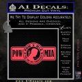 POW MIA DB Decal Sticker Pink Vinyl Emblem 120x120