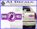 POW MIA DB Decal Sticker Purple Vinyl 120x97