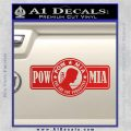 POW MIA DB Decal Sticker Red Vinyl 120x120