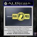 POW MIA DB Decal Sticker Yelllow Vinyl 120x120