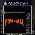 POW MIA Decal Sticker Wide Orange Vinyl Emblem 120x120