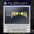 POW MIA Decal Sticker Wide Yelllow Vinyl 120x120