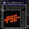 PSE Archery Decal Sticker D1 Orange Vinyl Emblem 120x120