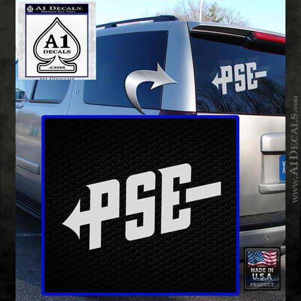 PSE Archery Decal Sticker D1 White Emblem