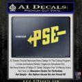 PSE Archery Decal Sticker D1 Yelllow Vinyl 120x120