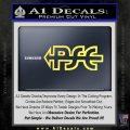 PSE Archery Decal Sticker D2 Yelllow Vinyl 120x120