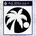 Palm Tree Moon CR Decal Sticker Black Logo Emblem 120x120