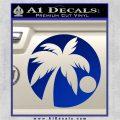 Palm Tree Moon CR Decal Sticker Blue Vinyl 120x120