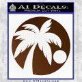 Palm Tree Moon CR Decal Sticker Brown Vinyl 120x120