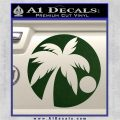 Palm Tree Moon CR Decal Sticker Dark Green Vinyl 120x120