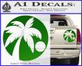 Palm Tree Moon CR Decal Sticker Green Vinyl 120x97