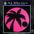 Palm Tree Moon CR Decal Sticker Hot Pink Vinyl 120x120