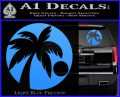 Palm Tree Moon CR Decal Sticker Light Blue Vinyl 120x97