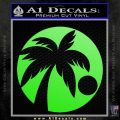 Palm Tree Moon CR Decal Sticker Lime Green Vinyl 120x120