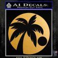 Palm Tree Moon CR Decal Sticker Metallic Gold Vinyl Vinyl 120x120