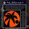 Palm Tree Moon CR Decal Sticker Orange Vinyl Emblem 120x120