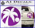 Palm Tree Moon CR Decal Sticker Purple Vinyl 120x97
