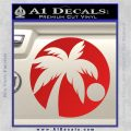 Palm Tree Moon CR Decal Sticker Red Vinyl 120x120