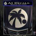 Palm Tree Moon CR Decal Sticker Silver Vinyl 120x120