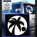 Palm Tree Moon CR Decal Sticker White Emblem 120x120