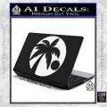 Palm Tree Moon CR Decal Sticker White Vinyl Laptop 120x120