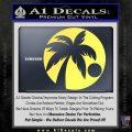 Palm Tree Moon CR Decal Sticker Yelllow Vinyl 120x120
