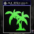 Palm Trees Decal Sticker D16 Lime Green Vinyl 120x120