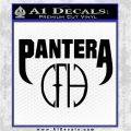 Pantera CFH Decal Sticker Black Logo Emblem 120x120