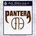 Pantera CFH Decal Sticker Brown Vinyl 120x120
