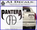 Pantera CFH Decal Sticker Carbon Fiber Black 120x97
