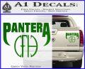 Pantera CFH Decal Sticker Green Vinyl 120x97