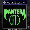 Pantera CFH Decal Sticker Lime Green Vinyl 120x120