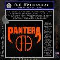 Pantera CFH Decal Sticker Orange Vinyl Emblem 120x120