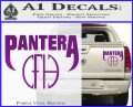 Pantera CFH Decal Sticker Purple Vinyl 120x97
