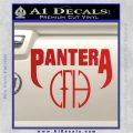 Pantera CFH Decal Sticker Red Vinyl 120x120