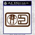 Panty Dropper Magnet Decal Sticker Brown Vinyl 120x120