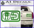 Panty Dropper Magnet Decal Sticker Green Vinyl 120x97