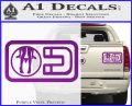 Panty Dropper Magnet Decal Sticker Purple Vinyl 120x97