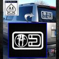 Panty Dropper Magnet Decal Sticker White Emblem 120x120