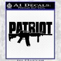 Patriot AR 15 Decal Sticker DW Black Logo Emblem 120x120