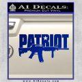Patriot AR 15 Decal Sticker DW Blue Vinyl 120x120