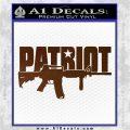 Patriot AR 15 Decal Sticker DW Brown Vinyl 120x120