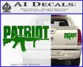 Patriot AR 15 Decal Sticker DW Green Vinyl 120x97