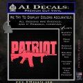 Patriot AR 15 Decal Sticker DW Pink Vinyl Emblem 120x120